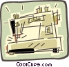 Vector Clip Art graphic  of a sewing machine