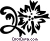 Vector Clip Art image  of a floral design