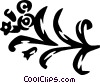 Vector Clipart illustration  of a floral design