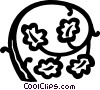 Vector Clipart picture  of a floral design