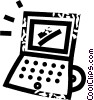 Vector Clip Art graphic  of a laptop computers