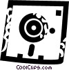 diskette Vector Clipart illustration