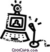 Vector Clipart graphic  of a computer