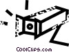 surveillance camera Vector Clip Art graphic