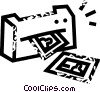 Vector Clip Art graphic  of a computer printer
