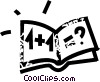 math book Vector Clipart graphic