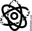 Vector Clip Art picture  of an atom
