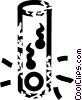 Vector Clip Art image  of a test tube fertilization