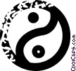 Vector Clipart image  of a ying and yang