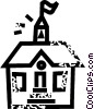 Vector Clipart illustration  of a schoolhouse