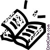 Vector Clip Art image  of a school books