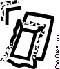 Vector Clip Art graphic  of a picture frames