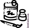Vector Clip Art graphic  of an art supplies
