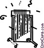 Vector Clip Art graphic  of a glockenspiel