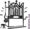 Vector Clip Art graphic  of a church organ