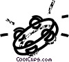 tambourine Vector Clip Art graphic