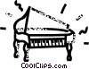 grand concert piano Vector Clip Art graphic