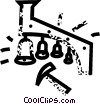 Vector Clipart graphic  of a bells and hammer