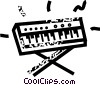 Vector Clip Art image  of a keyboard