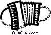 Vector Clipart picture  of an accordion