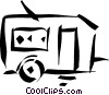 Vector Clipart graphic  of a camping trailer