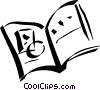 Vector Clip Art picture  of a Open book
