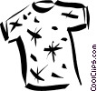 Vector Clip Art image  of a t-shirt