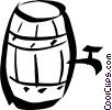 Vector Clipart graphic  of a wine barrel