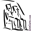 Vector Clip Art image  of a Egyptian Pharaohs