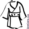 Vector Clip Art graphic  of a Japanese kimono