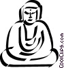 Vector Clipart illustration  of a Buddha