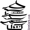pagoda/temple Vector Clipart picture