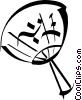 Japanese fan Vector Clip Art graphic