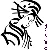Vector Clipart graphic  of a Japanese Geisha