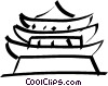 Vector Clipart graphic  of a pagoda/temple