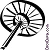 Vector Clipart image  of a Japanese hand fan