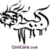 Vector Clipart graphic  of a Chinese paper dragon