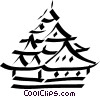 pagoda/temple Vector Clip Art picture