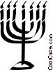 Vector Clip Art graphic  of a Menorah