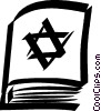 Vector Clipart graphic  of a Jewish bible