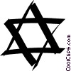 Star of David Vector Clipart image