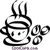 cup of coffee with coffee beans Vector Clipart illustration