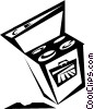 Vector Clipart graphic  of a stove