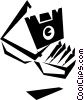 Vector Clip Art image  of a diskette holder