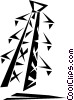 Vector Clip Art graphic  of a hydro tower