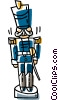 Vector Clipart graphic  of a foot guard