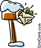 Vector Clipart graphic  of a mail box with an envelope in