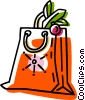 Christmas bag with presents Vector Clipart picture
