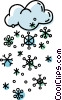 storm clouds with snowflakes Vector Clipart picture