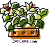 Vector Clip Art image  of a Christmas poinsettia